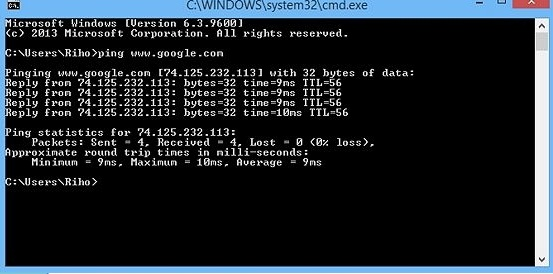 Diagnosticar el servicio del internet utilizando la terminal de Windows