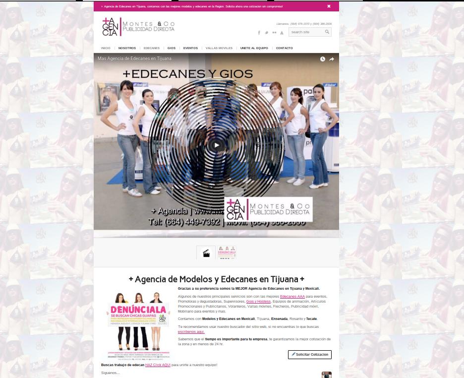 Agencia de Edecanes en Tijuana y publicidad movil