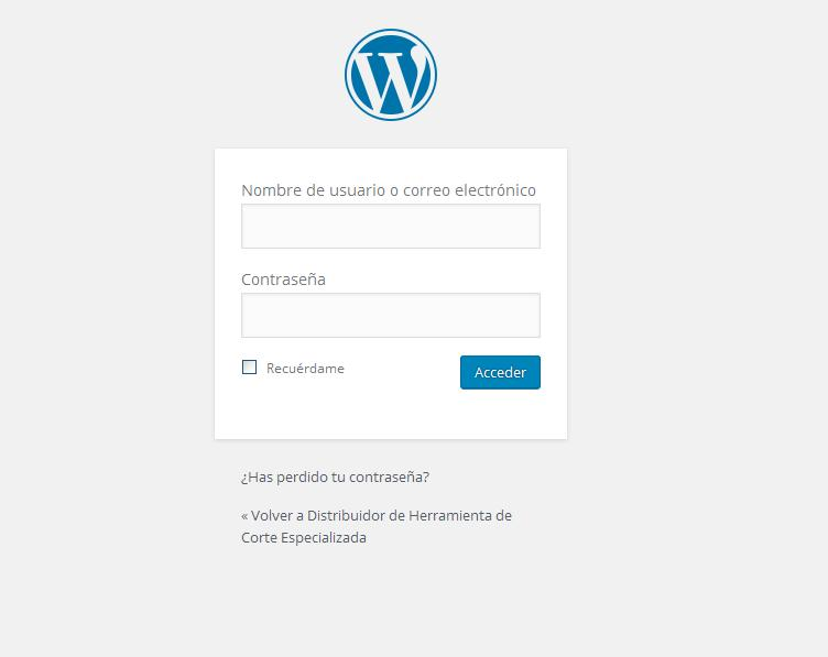 acceso-wordpress-default