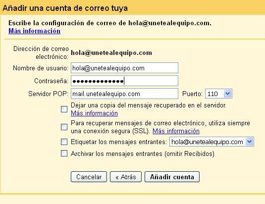 datos-servidor-pop3-gmail