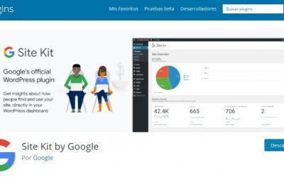 Nuevo plugin de Google llamado Site Kit para integrar estadísticas de tu web